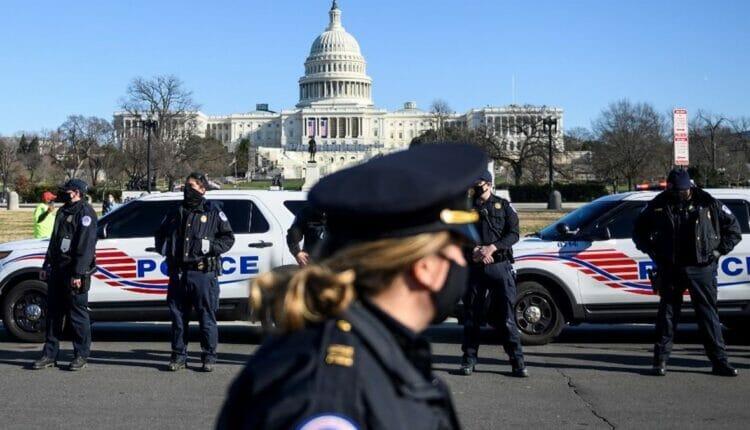 الشرطة الامريكية تطوق مبنى الكابيتول