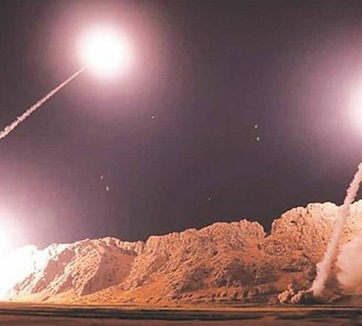 لقطات من الضربة الايرانية لقاعدة أمريكية