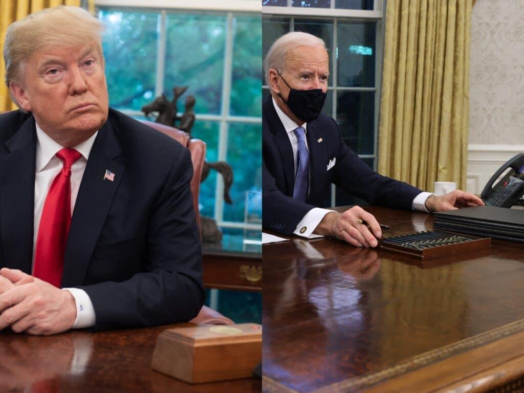 """لهذا السبب أزال بايدن """"الكبسة الحمراء"""" التي وضعها ترامب على مكتب البيت الأبيض!"""