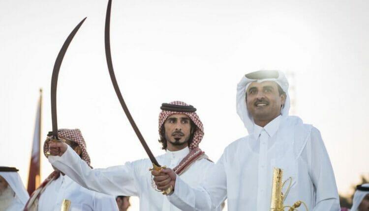 امير قطر الشيخ تميم بن حمد ترامب