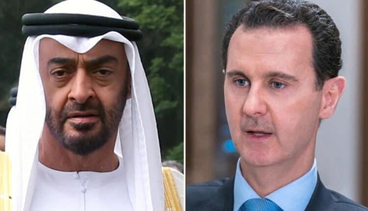 بشار الأسد ومحمد بن زايد