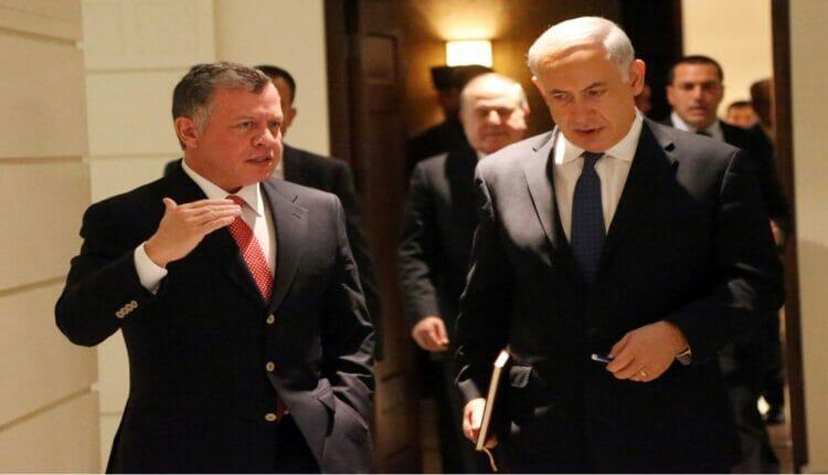 بنيامين نتنياهو والعاهل الأردني