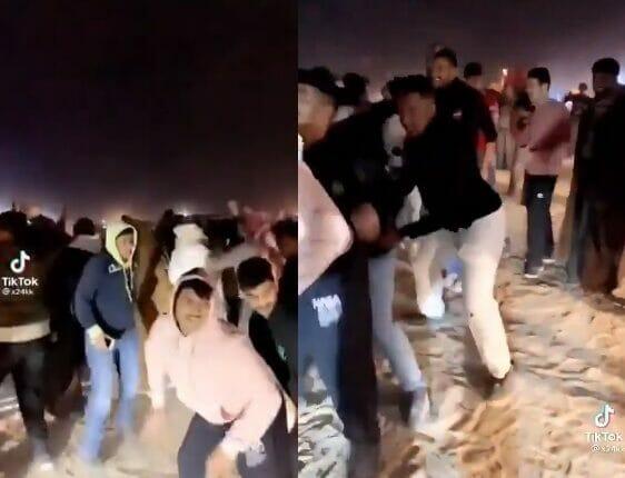 حفل رقص نظمه شبان كويتيون في منطقة عامة بمناسبة رأس السنة