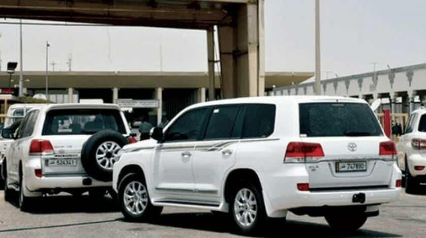 سيارات قطرية بمعبر سلوى السعودي