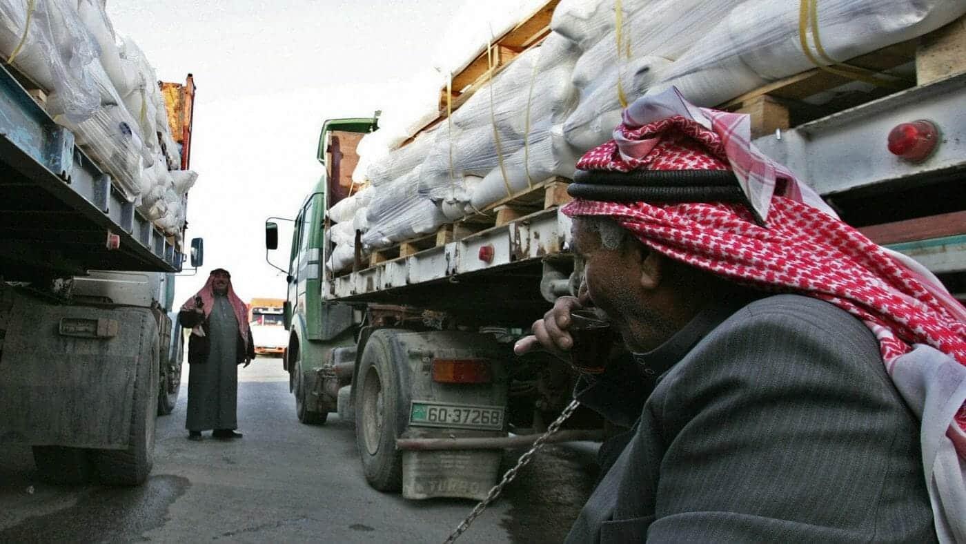 شاحنات أردنية