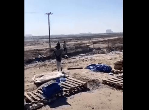 لحظة انتحار شاب من البدون بالكويت