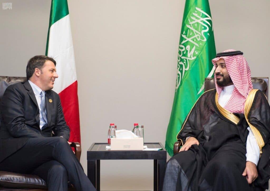 رشوة محمد بن سلمان إلى ماثيو رينزي رئيس وزراء إيطاليا السابق تثير ضجة