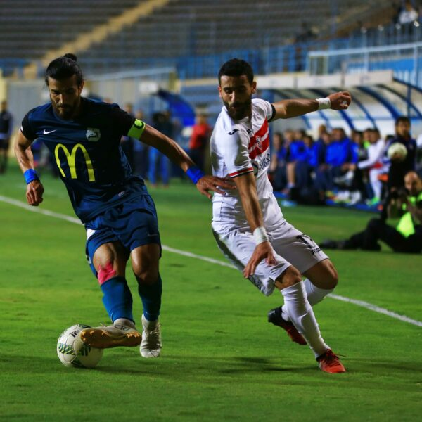 مباراة الزمالك وإنبي في الدوري المصري