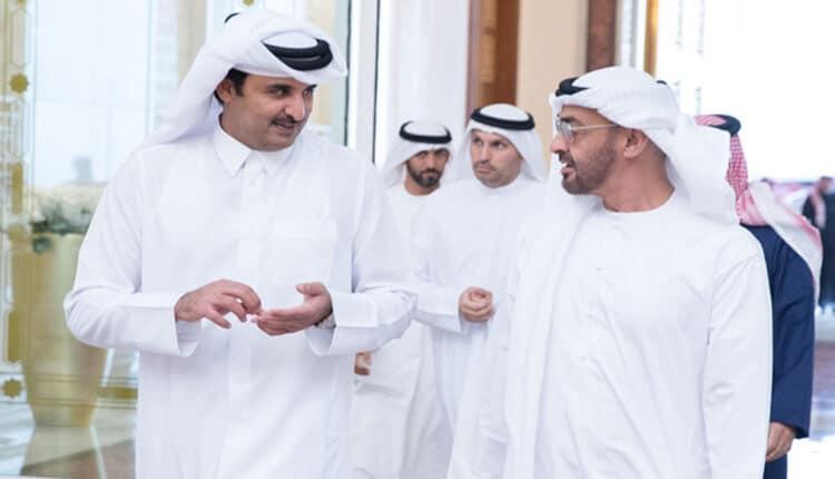 محمد بن زايد وأمير قطر