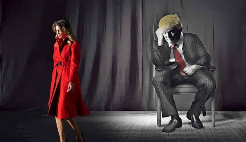 ميلانيا ترامب وزوجها دونالد