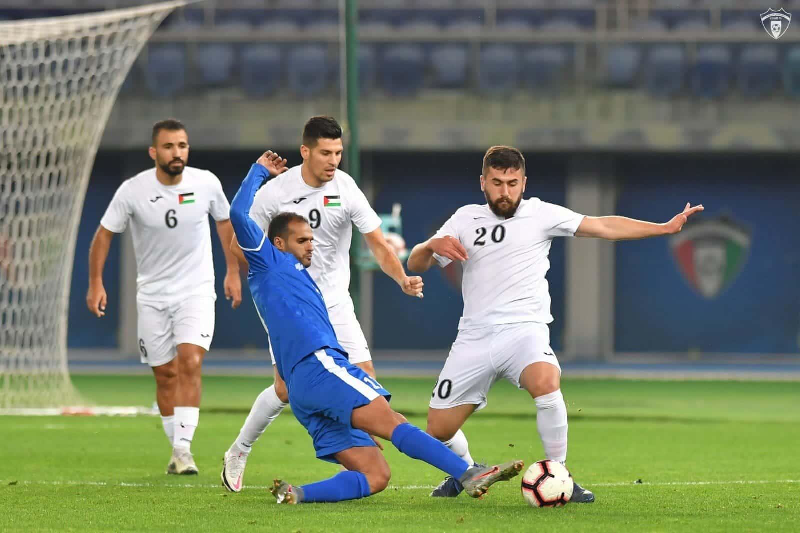 مباراة منتخب فلسطين والكويت