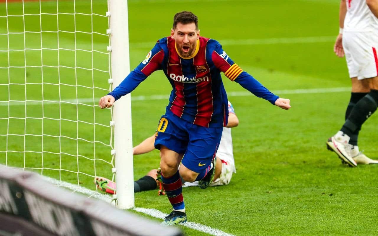 مباراة برشلونة واشبيلية في قمة الجولة الرابعة والعشرين بالدوري الإسباني