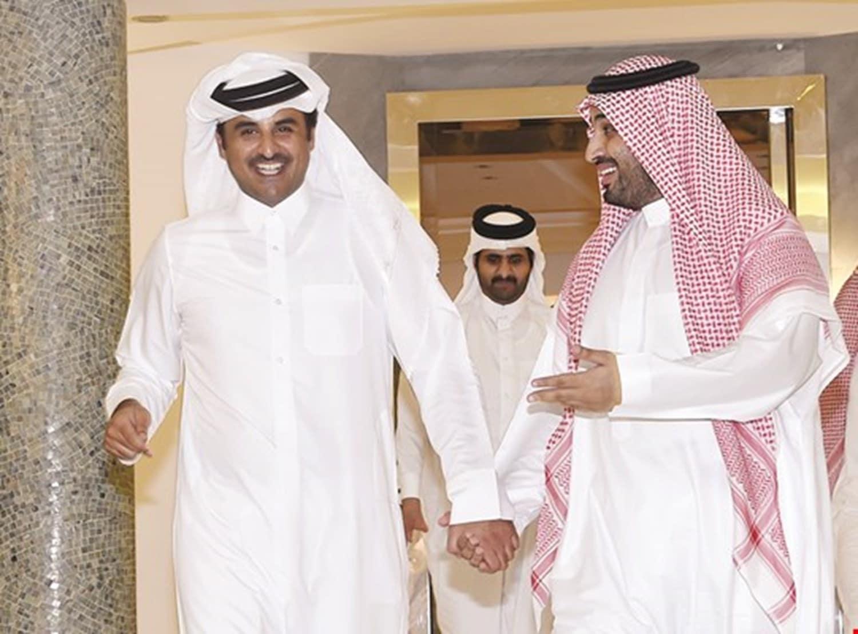أمير قطر تميم بن حمد يتصل بولي العهد السعودي محمد بن سلمان