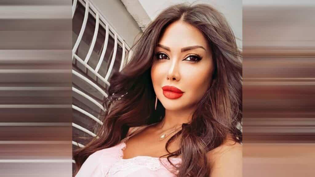 السورية دانا جبر تثير ضجة واسعة بصورتها مع عشيقها في عيد الحب