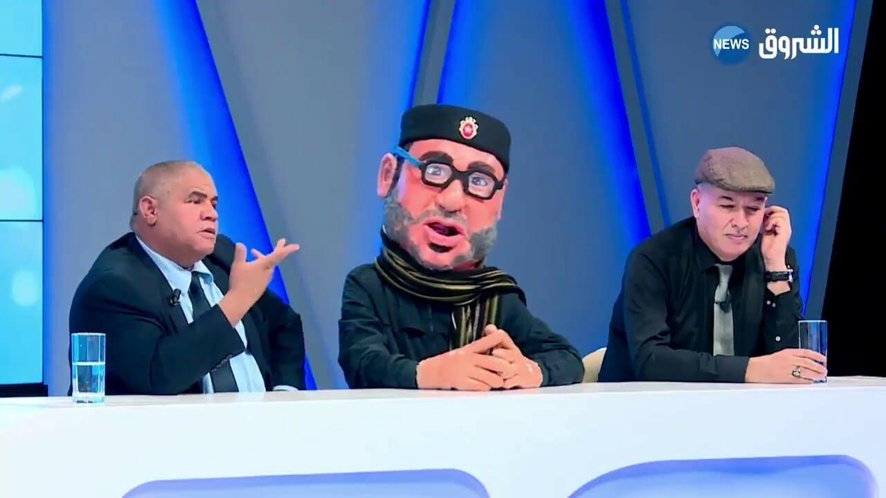 قناة الشروق الجزائرية تصور ملك المغرب بالدمية
