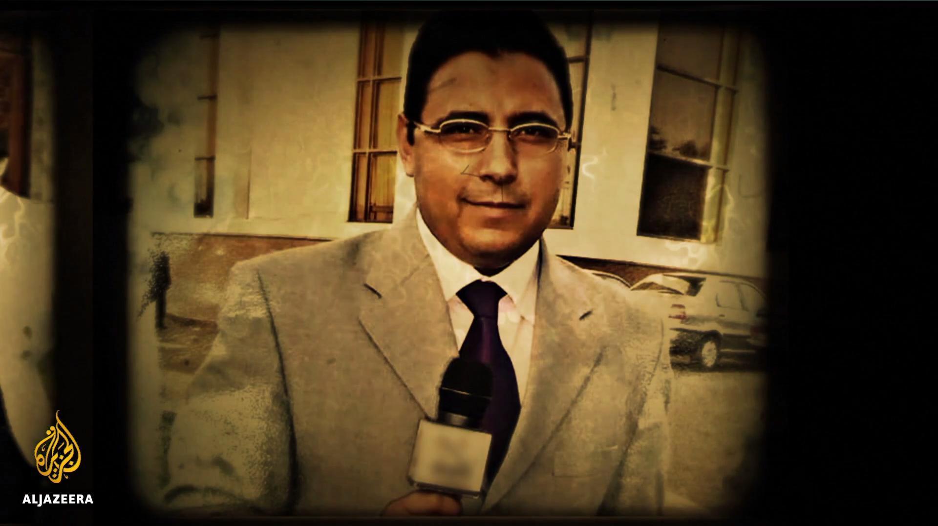 اول ظهور لمراسل الجزيرة محمود حسين
