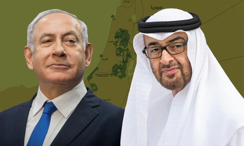 محمد بن زايد غاضبا من بنيامين نتنياهو