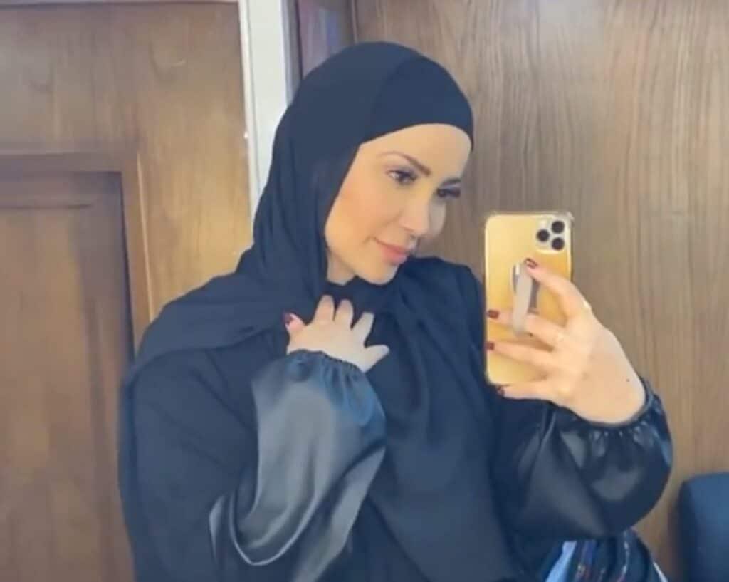 نسرين طافش ترتدي الحجاب