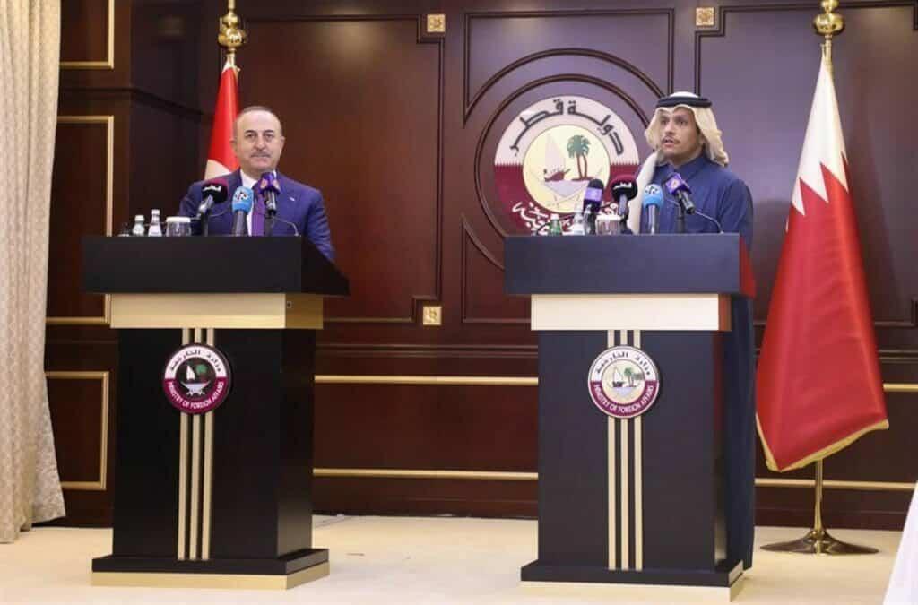وزير خارجية تركيا يتحدث عن قطر