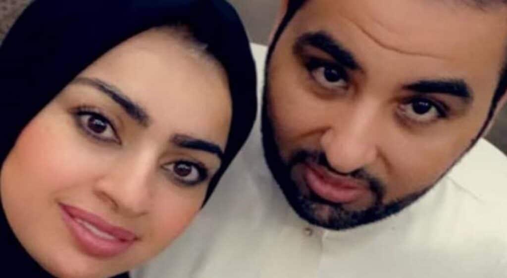 أميرة الناصر تعود للحجاب وزوجها يبكي