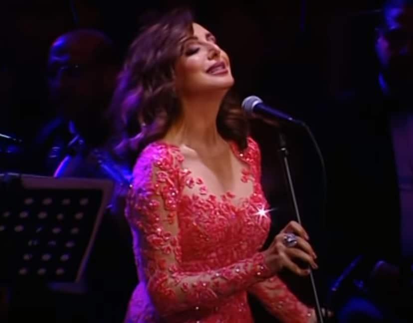 فستان أنغام يضعها في موقف محرج خلال حفل على المسرح