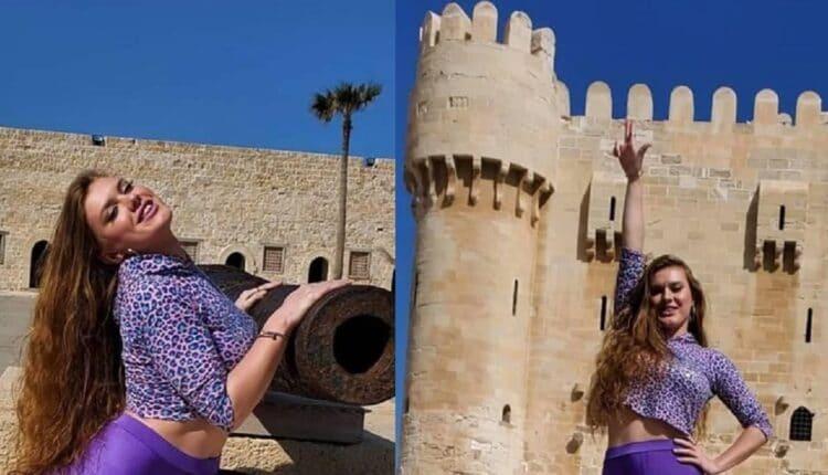 الراقصة الروسية ديانا تثير ضجة بجلسة تصوير في صحن قلعة قايتباي الأثرية