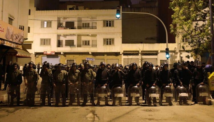 الامن المغربي يفرق وقفة تضامنية مع الشعب الفلسطيني