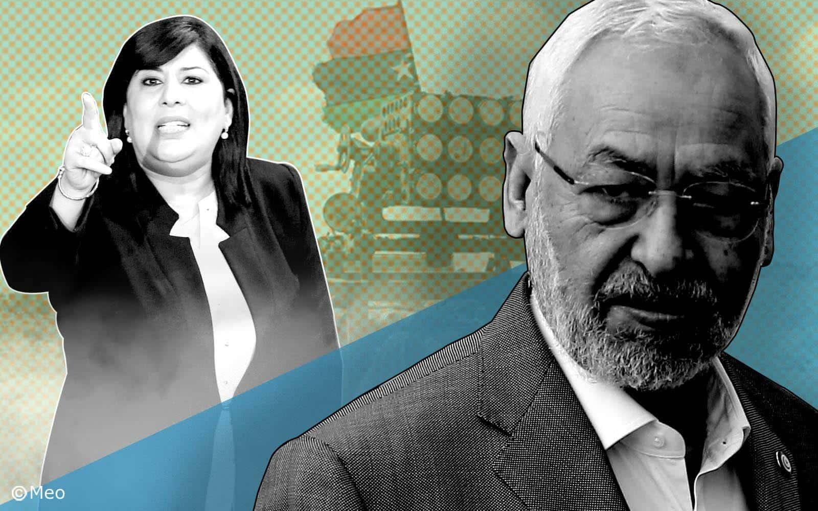 الغنوشي يعاقب عبير موسى بالمنع من الالتحاق بأعمال مكتب البرلمان التونسي