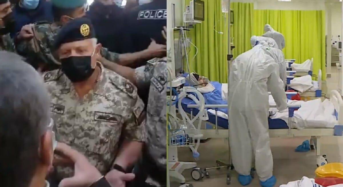 الملك الأردني في مستشفى السلط بعد الفاجعة ويقيل وزير الصحة