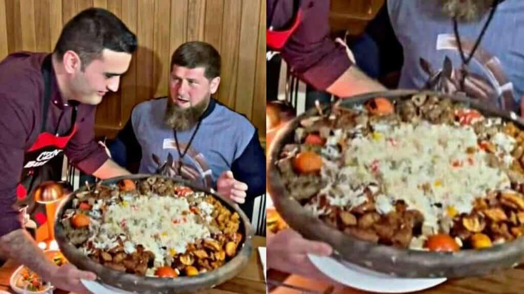 الشيف التركي بوراك والرئيس الشيشاني رمضان قديروف