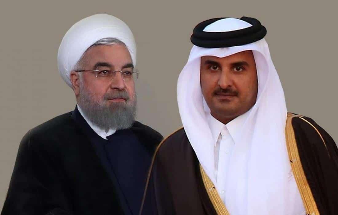 الرئيس الإيراني حسن روحاني يبعث لامير قطر تميم بن حمد رسالة عن امن المنطقة