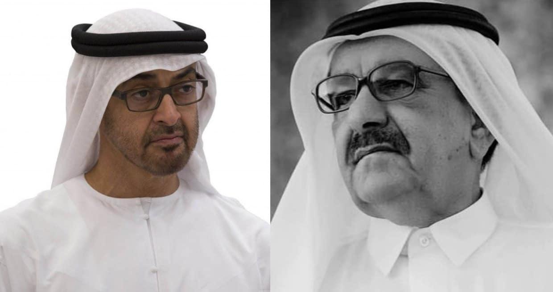 محمد بن زايد يغرد عن وفاة حمدان بن راشد آل مكتوم الذي كانت علاقته ممتازة مع قطر .. ماذا قال؟