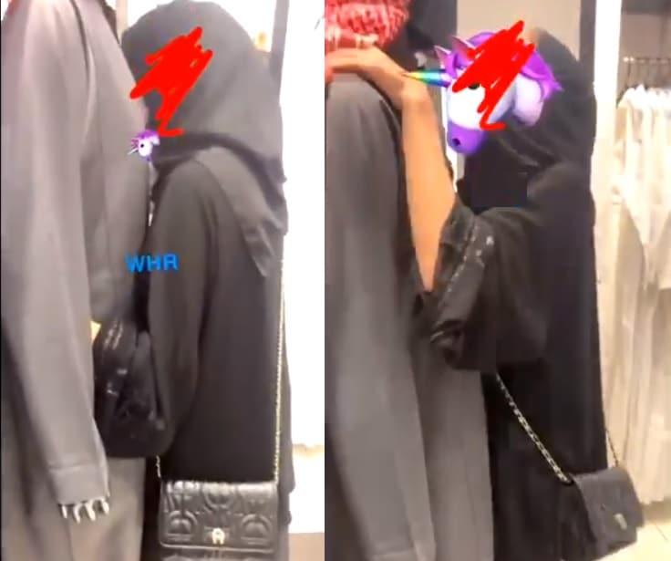 سعودية تتحرش بدمية عرض الملابس مانيكان وتثير جدلاً