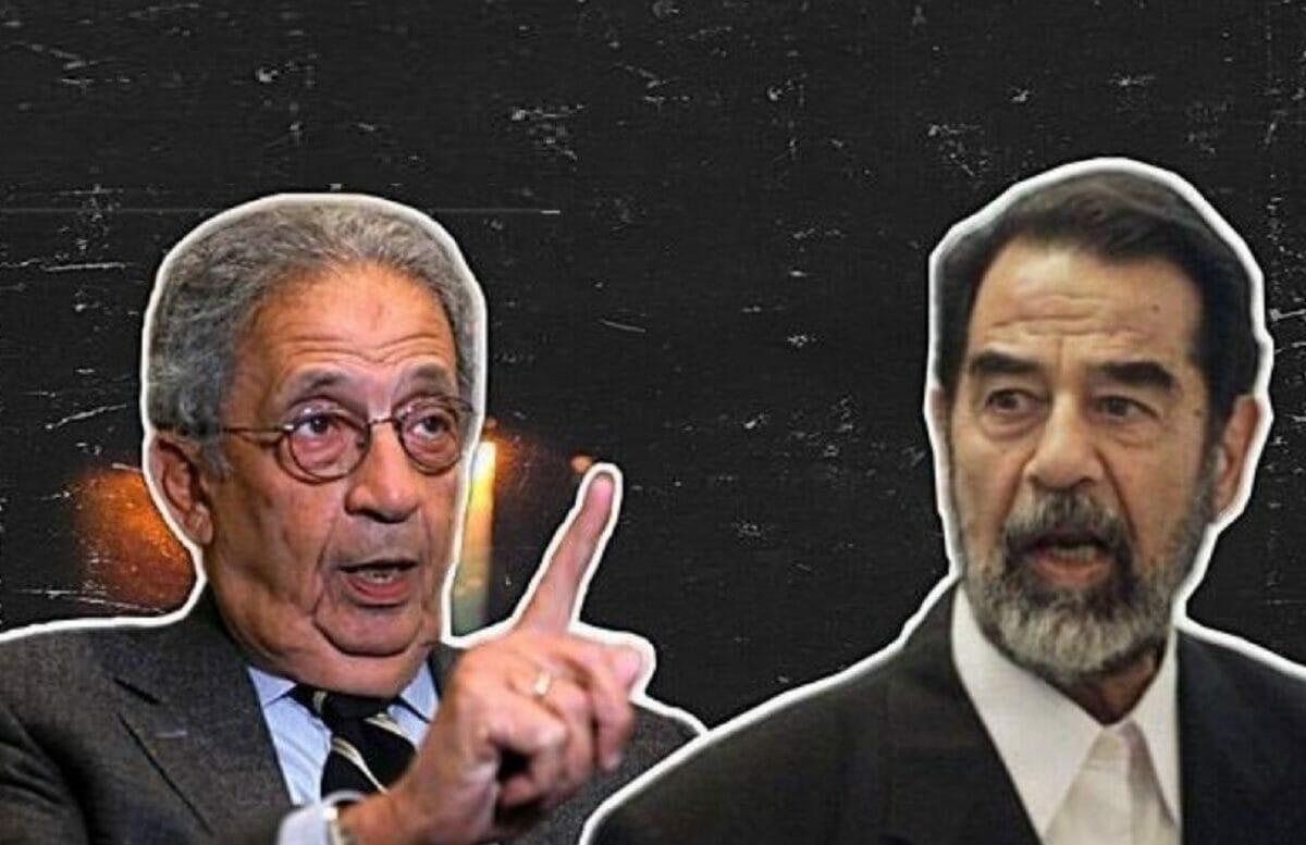 عمرو موسى قال في كتابه سنوات الجامعة العربية انه صرخ بوجه صدام اثناء اقناعه عودة مفتشي الأسلحة