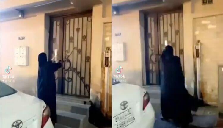 فتاة سعودية تحتفل بطلاقها أمام منزل طليقها