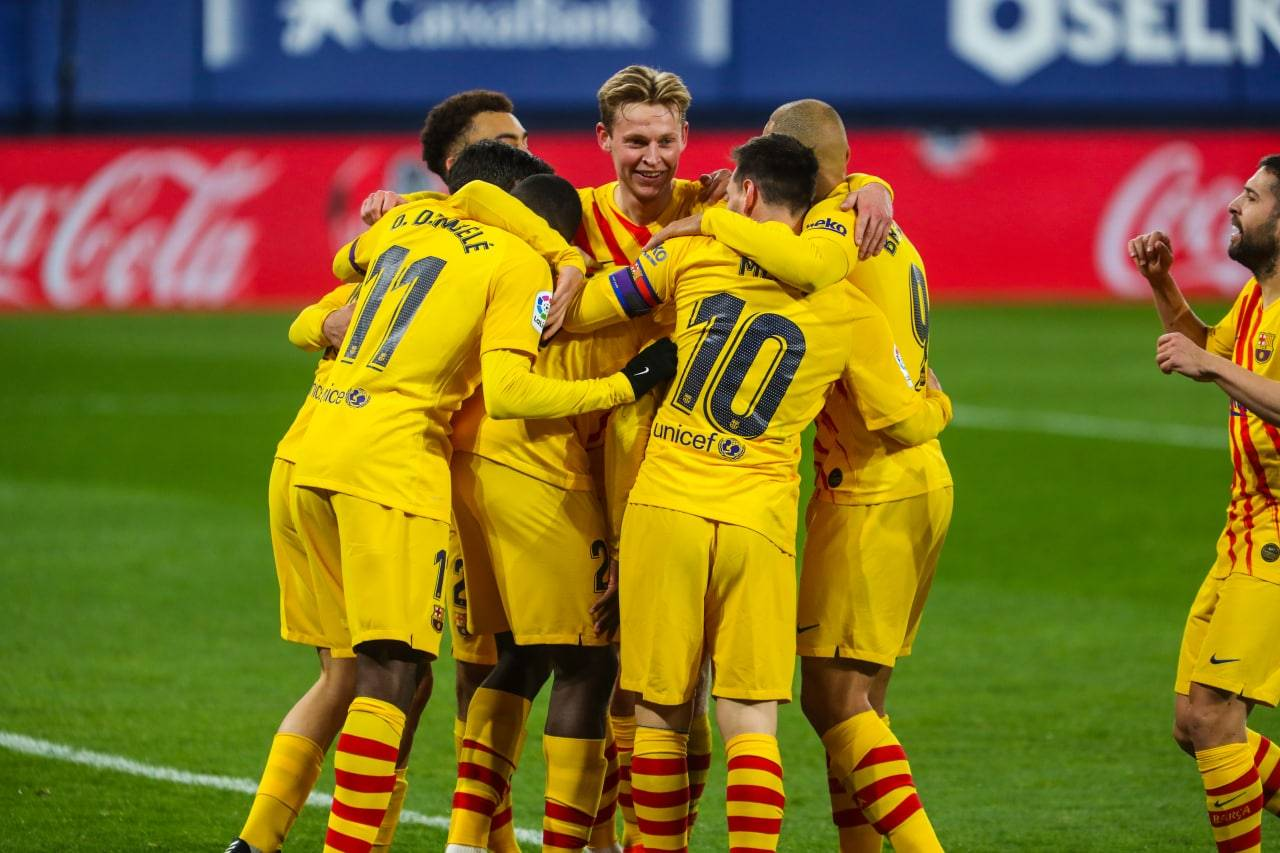 برشلونة يقلص الفارق مع المتصدر أتلتيكو مدريد بفوزه على منافسه أوساسونا