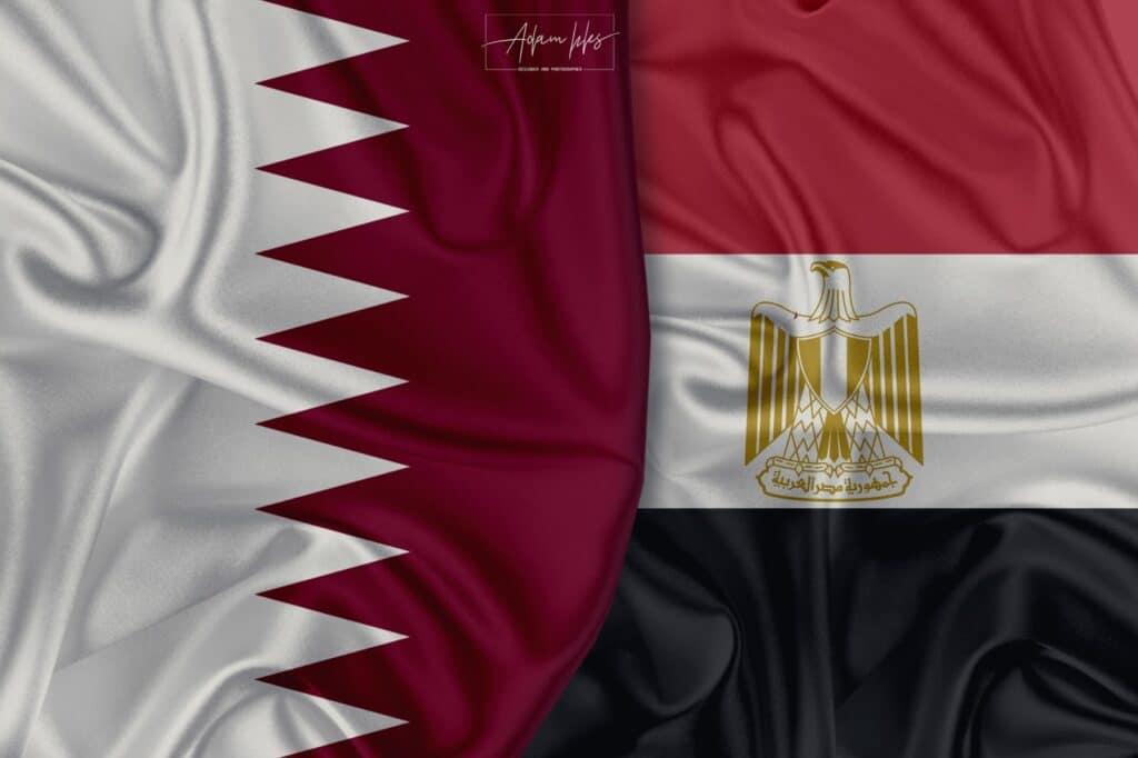 شاهد أول صورة لوزير الخارجية القطري مع نظيره المصري في القاهرة منذ عام 2017