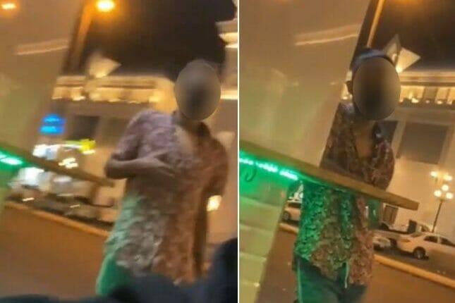"""حادثة تحرش في مركز """"تيرا مول"""" للتسوق في مدينة الطائف بالسعودية"""