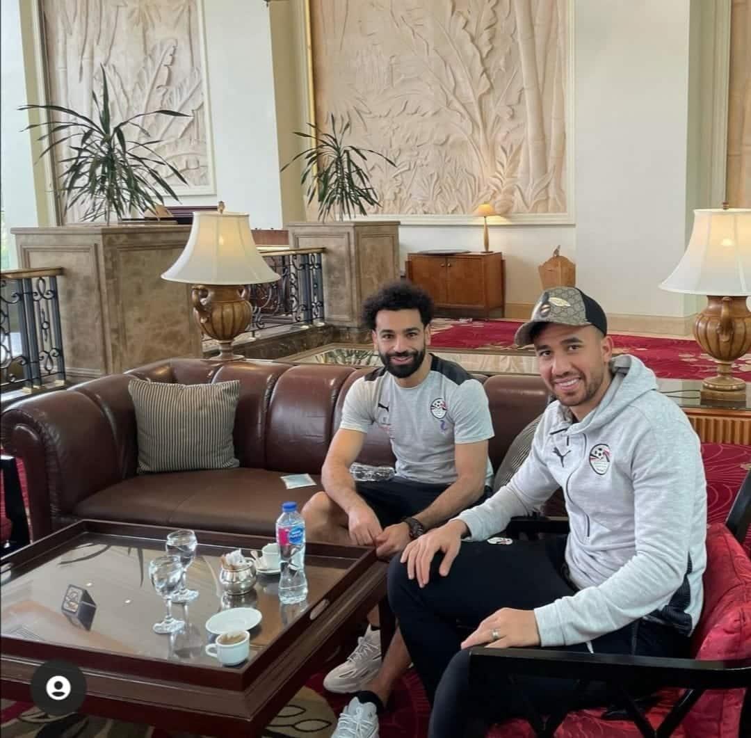 مواقف وصور طريفة لمحمد صلاح مع تريزيغيه في مران منتخب الفراعنة