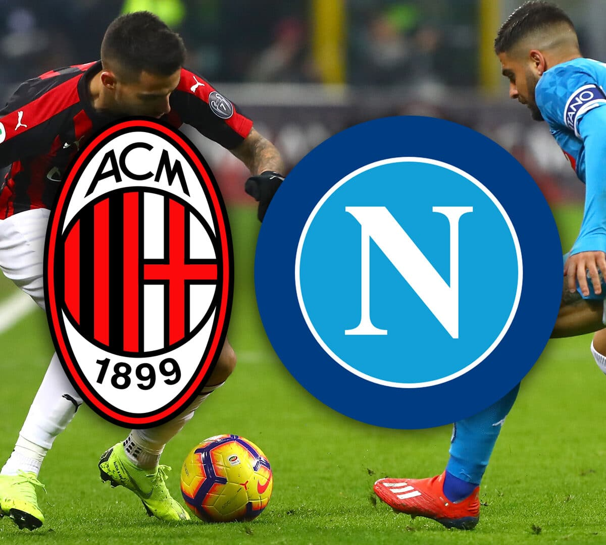 مباراة الميلان ومنافسه نابولي الإيطالي