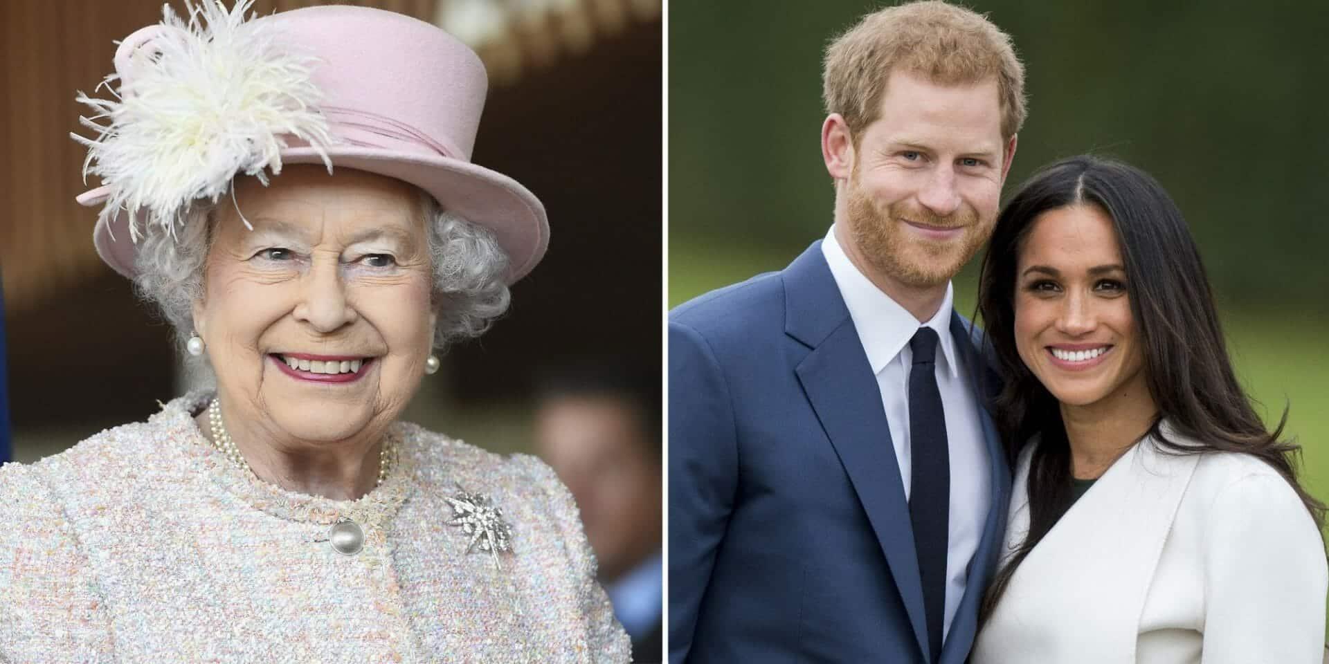 """""""شارلي إبدو"""" تهين ميغان ماركل بصورة للملكة إليزابيث وهي تدعس على رقبتها!"""