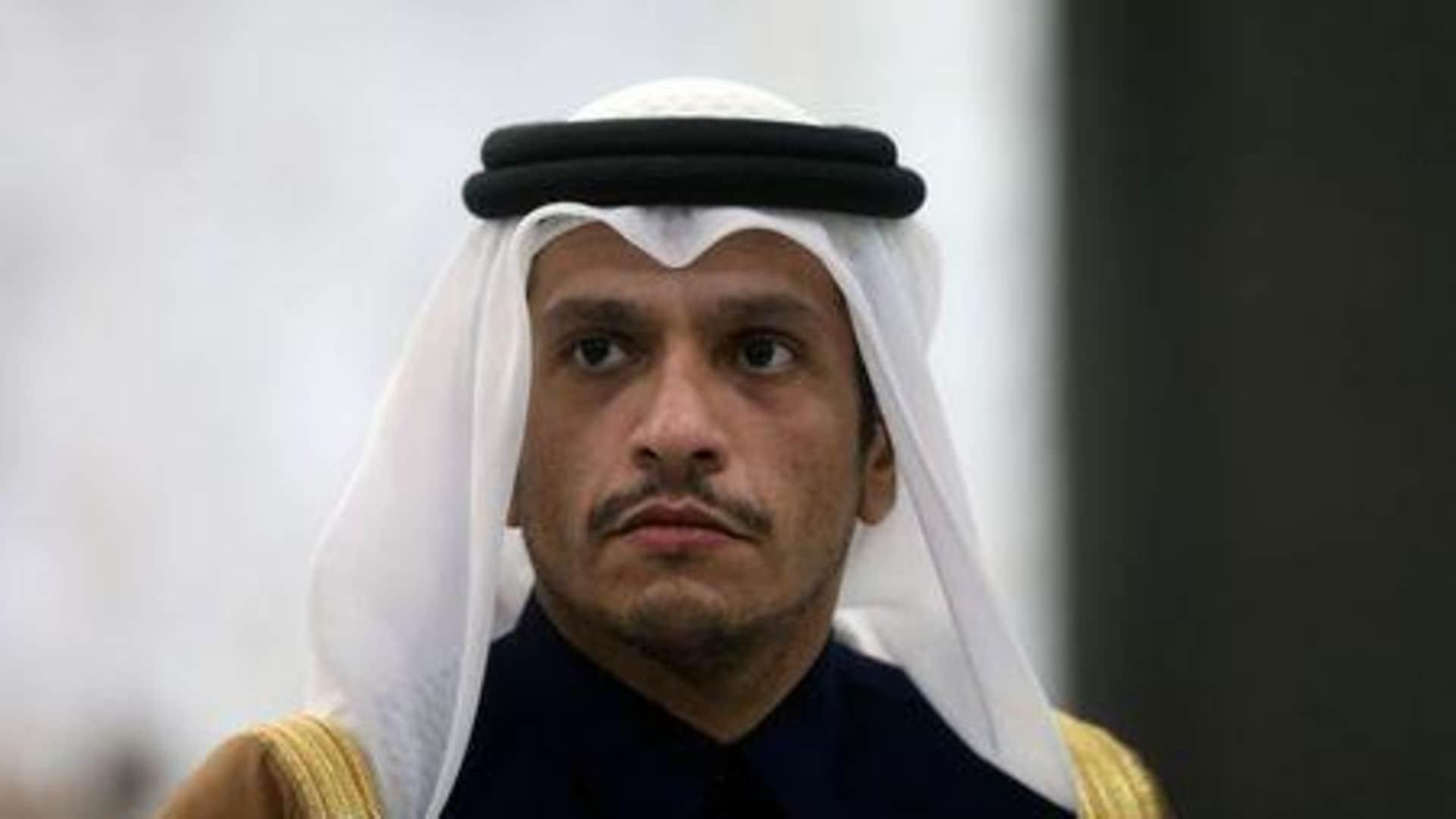 وزير خارجية قطر يرد على سؤال حول تدخل تركيا وإيران