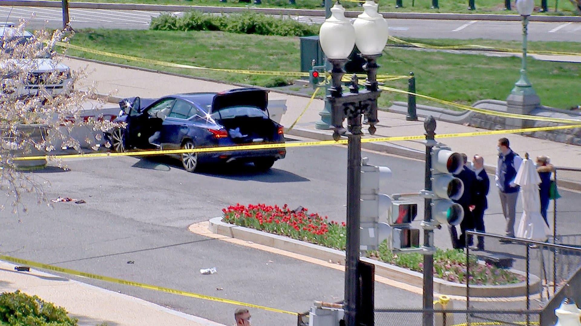 شاهد ما الذي حدث بعد محاولة سيارة اقتحام حاجز أمني في محيط الكونغرس الأمريكي؟!