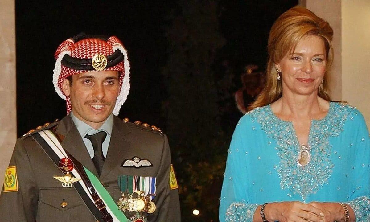 الملكة نور والامير حمزة بن الحسين