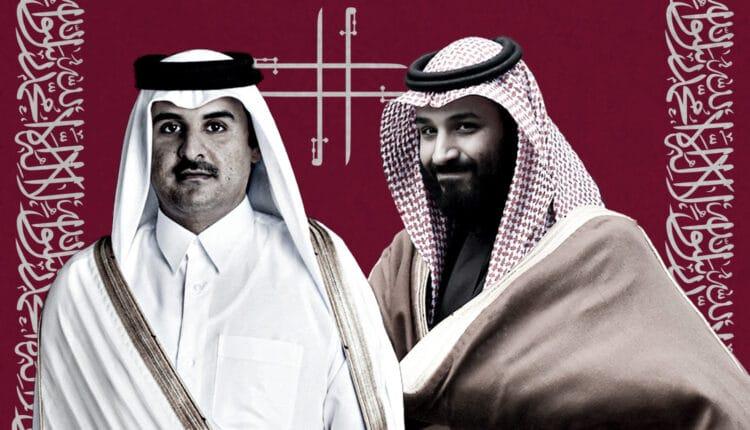امير قطر الشيخ تميم بن حمد ومحمد بن سلمان