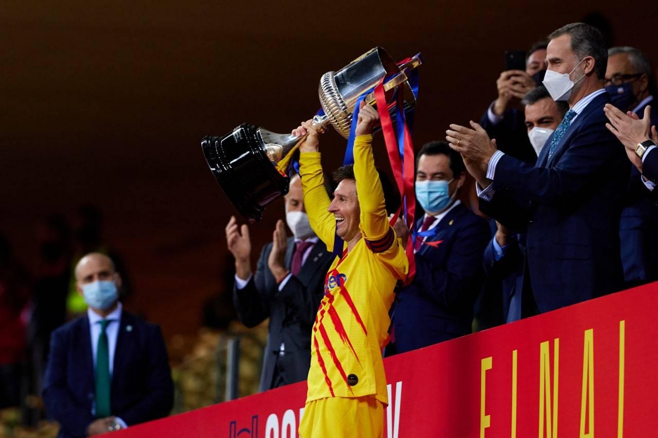 ليونيل ميسي والاحتفال بكأس ملك إسبانيا
