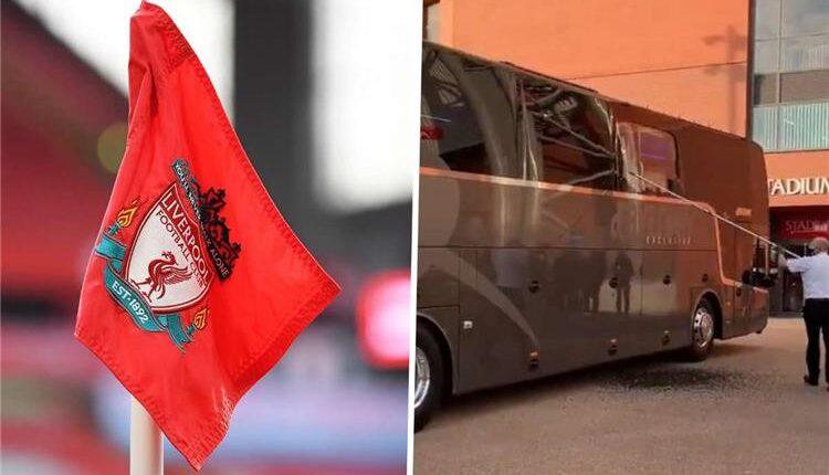 جماهير ليفربول وتحطيم زجاج حافلة ريال مدريد