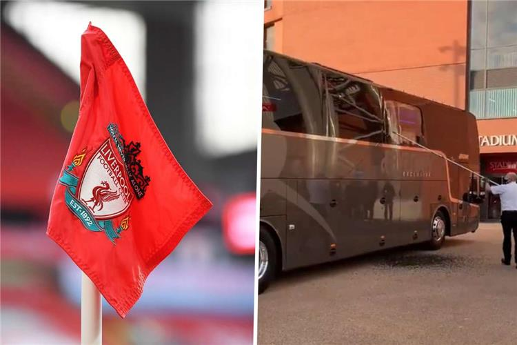 بالفيديو: أثناء استقبالهم .. جماهير ليفربول تحطم حافلة ريال مدريد والنادي يعتذر