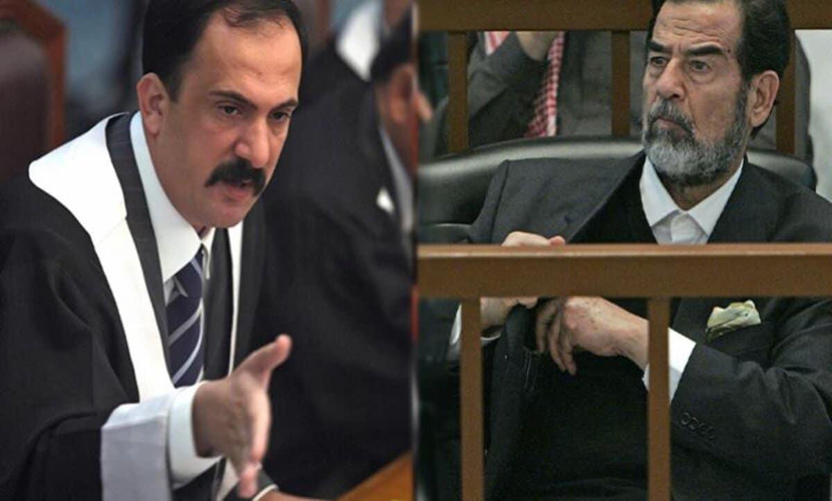 صدام حسين والقاضي محمد عريبي