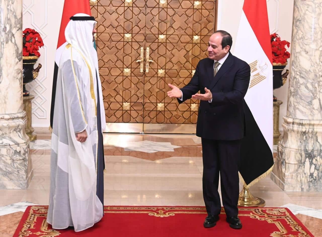 عبدالفتاح السيسي ومحمد بن زايد